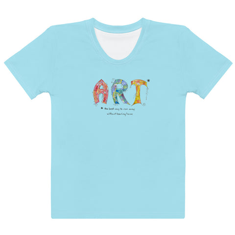 Women's Crew-Neck T-shirt - Art in Aqua