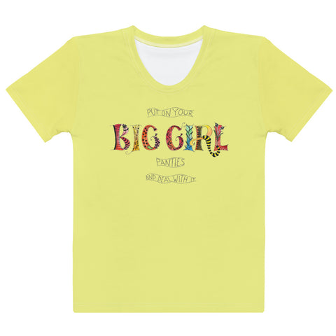 Women's Crew-Neck T-shirt - Big Girl in Yellow