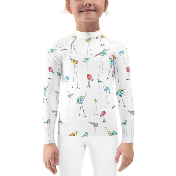 Kids Rash Guard - All-Over Birds