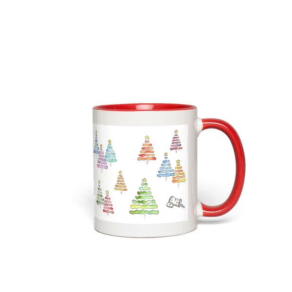 Holiday Accent Mug - Xmas 2020 with Trash Can in Red