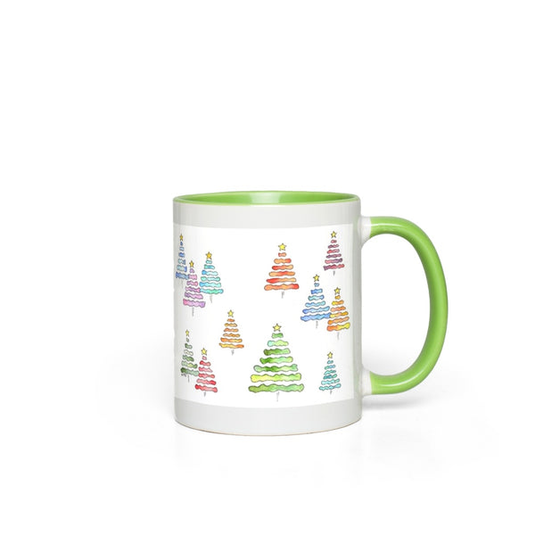 Holiday Accent Mug - Xmas 2020 in Green