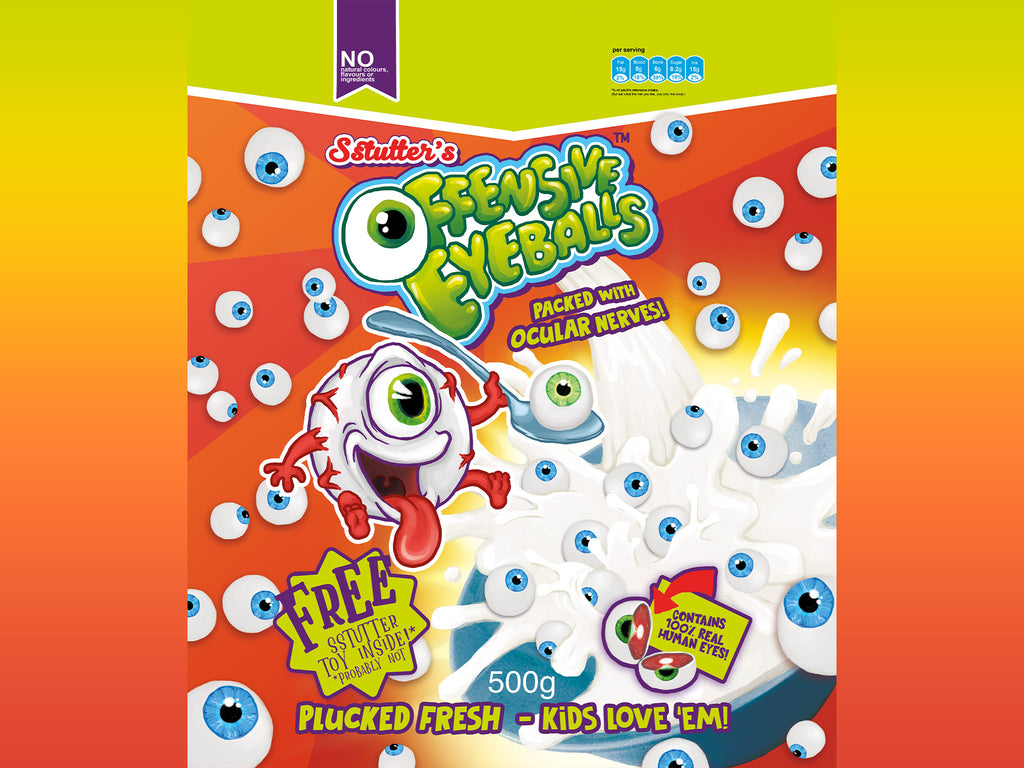 Offensive Eyeballs - Statement Cereal Splash