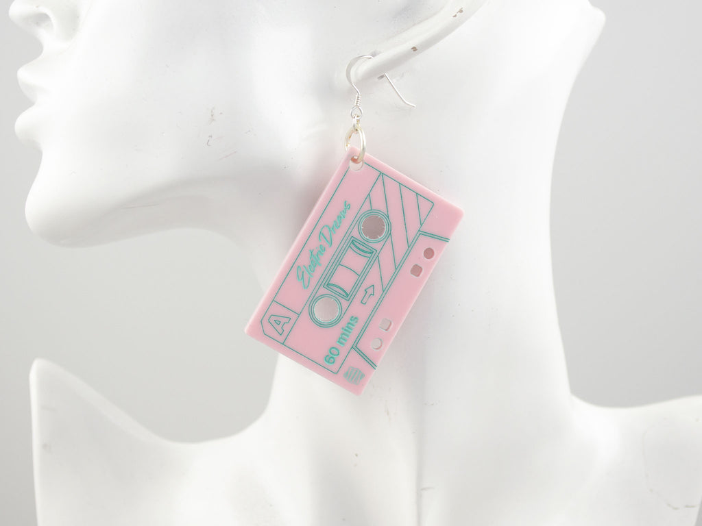 Electric Dreams Earrings - Baby Pink