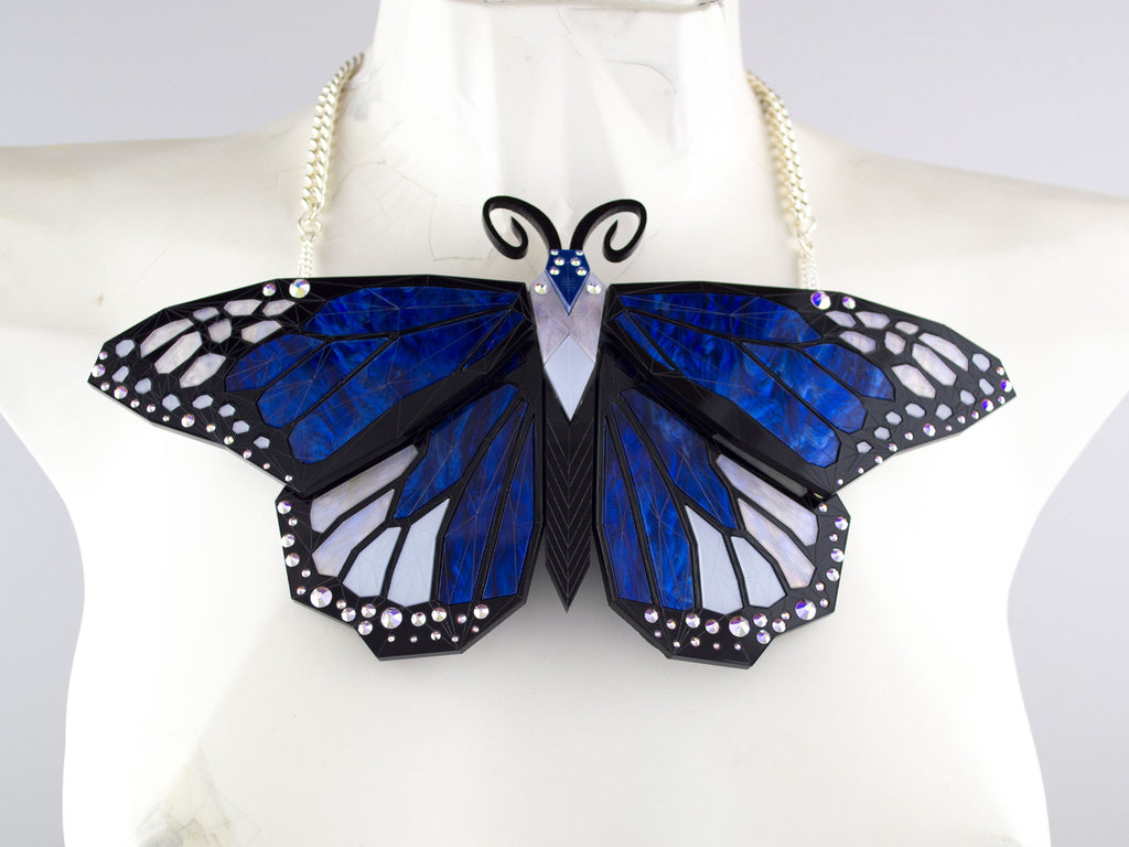 Monarch Butterfly - Deep Blue