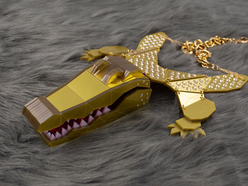 Statement Crocodile - Gold Jewel