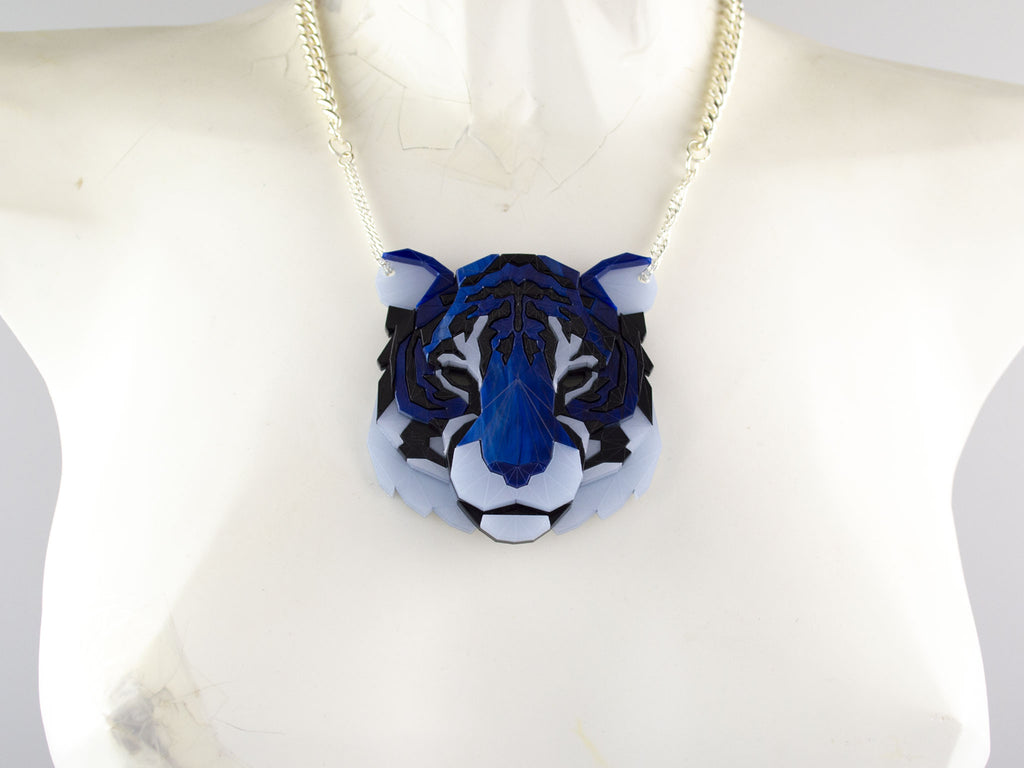Tiger Head - Deep Blue