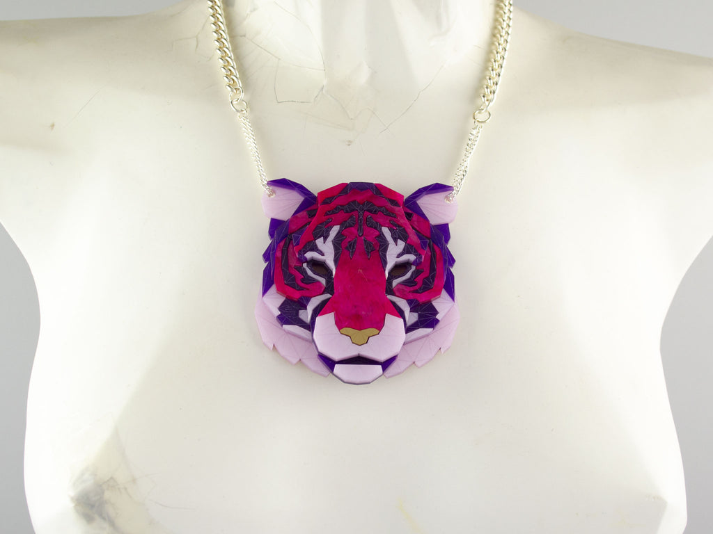 Tiger Head - Magenta Jewel