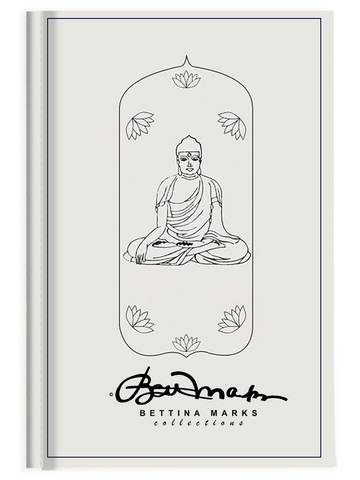White Meditative Buddha Journal