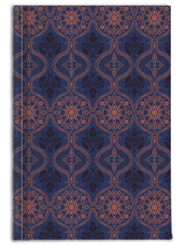 Sargasso Blue and Mellow Rose (coloured) Damask Journal