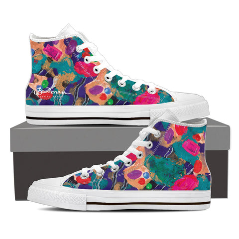 Jelly Bean Women's White High Top Sneakers