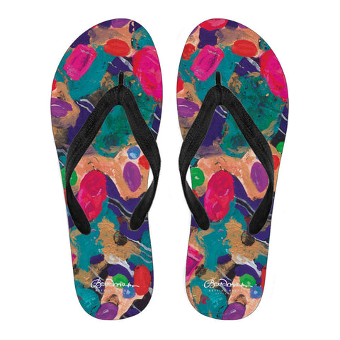 Jelly Bean Women's Black Flip Flops