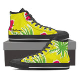 Strawberry Tropic Women's Black High Top Sneakers