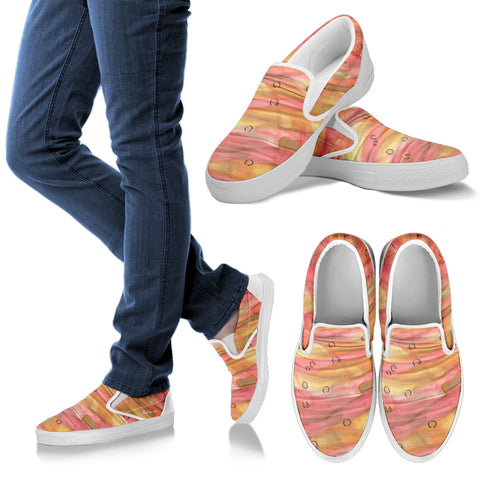 Dreamy Floral Slip On Sneakers