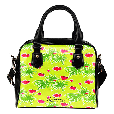 Strawberry Tropic Hand Bag w Shoulder Strap
