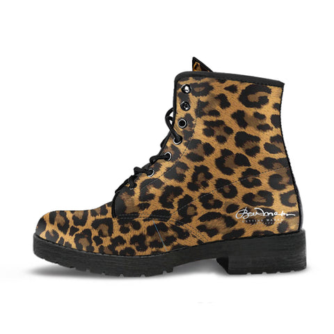 Leopard Leather Boots (Vegan)