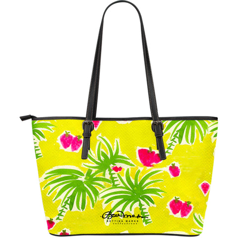Strawberry Tropic Large Tote Bag