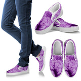 Purple Tie Dye Slip On Sneakers