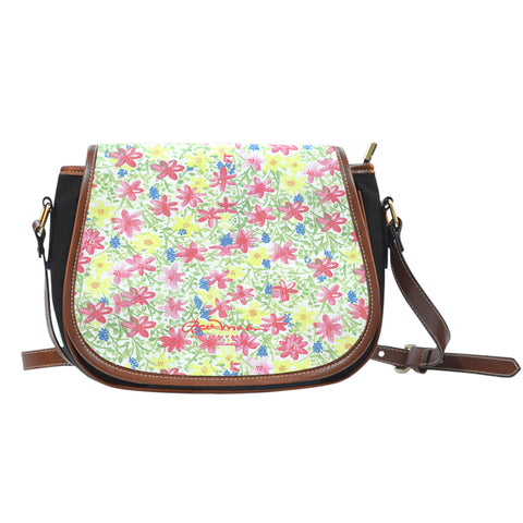 Wild Flower Saddle Shoulder Bag