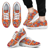 Orange Paisley Stripe Athletic Sneakers