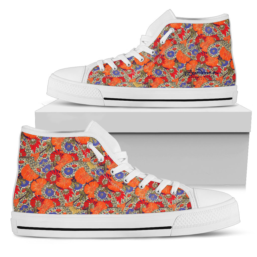 Orange Paisley Top  High Top Paisley Scarpe da Ginnastica 289b86