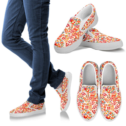 Retro Paisley Slip On Sneakers