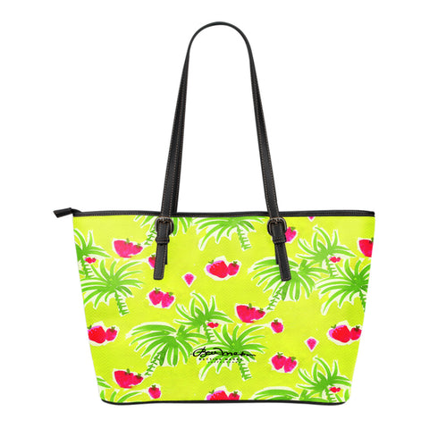 Strawberry Tropic Small Tote Bag