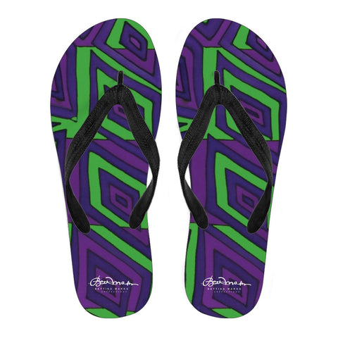 Joker Madness Women's Black Flip Flops