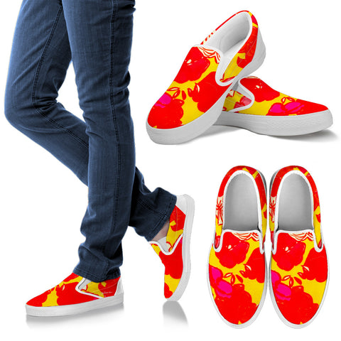 Sixties Floral Slip On Sneakers