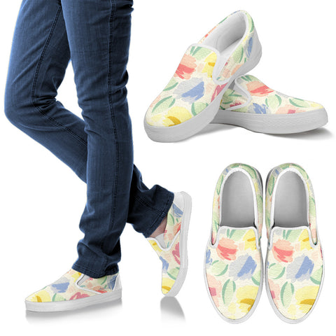 Blurred Tulip Slip On Sneakers