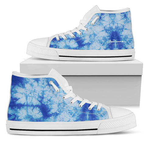 Blue Tie Dye High Top Sneakers