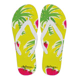 Strawberry Tropic Men's White Flip Flops