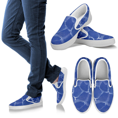 Blue Pool Slip On Sneakers