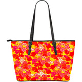 Sixties Floral Large Tote Bag