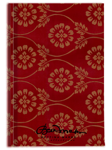 Red Pear and Almond Buff (coloured) Turkish Tapestry Journal