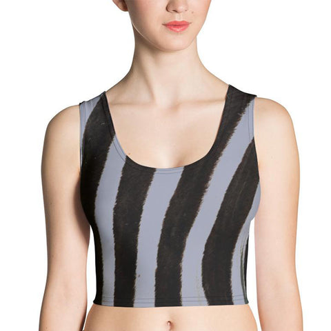 Grey Zebra Crop Top