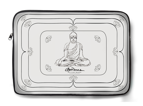 White Buddha Laptop Sleeve