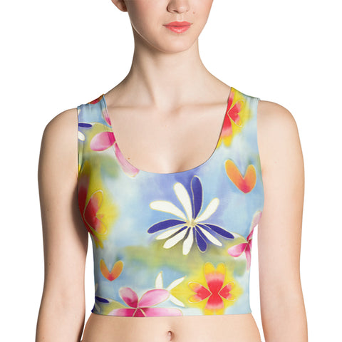 Sunrise Floral Fitted Crop Top