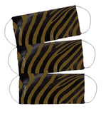 Face Mask (w Pleats for Filter) (Olive Zebra)