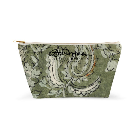 Sage Paisley Accessory Pouch T-Bottom