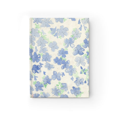 Blu&White Watercolor Floral Journal