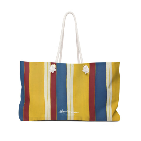 French Beach Chair Stripe Weekender Bag