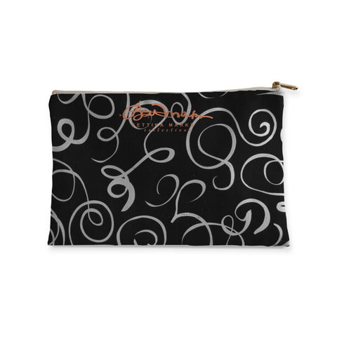B&W Squiggles Accessory Pouch Flat