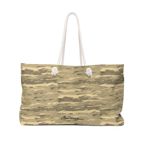 Tan Lava Lamp Weekender Bag