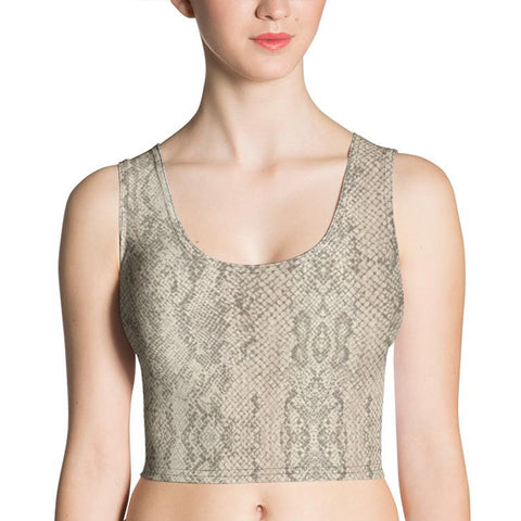 Authentic Snake Skin Crop Top