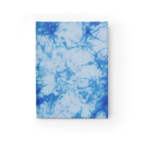 Blue Tie Dye Journal