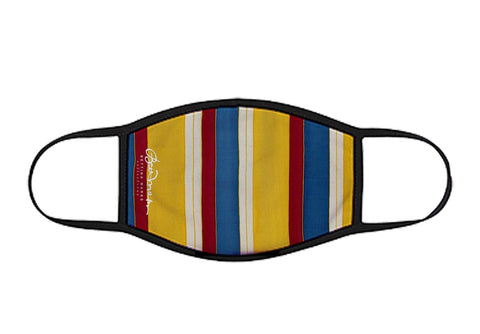 Face Mask French Beach Chair Stripe