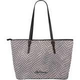 Crocodile Skin Large Tote Bag