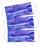 Face Masks (w pleated pocket for filter) Periwinkle Blue Lava Lamp