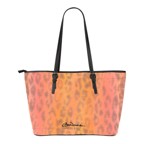 Ombre Leopard Small Tote Bag