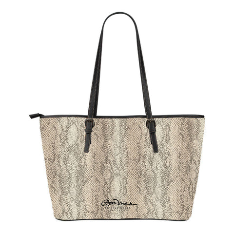 Authentic Snake Skin Print Small Tote Bag